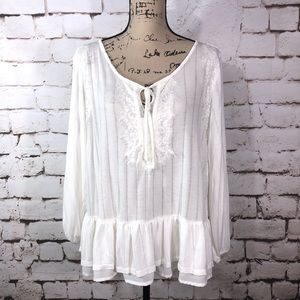 Vintage America Ivory Lace Top